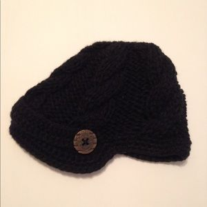 Other - Crochet Button Newsboy Cap